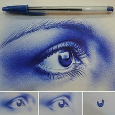 """""""Gorgeous ball point pen drawing by @maziyargoodarzi.art!!! Use #BLVART on your best art or submit to FEATURE@BLVART.COM to be featured!"""""""