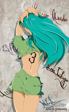 Sexy, sexy Hey, I found this really awesome Etsy listing at https://www.etsy.com/es/listing/111717486/bleach-anime-nel-print