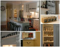 Drream kitchen on a budget + french provincial + mantle + industrial + black and white