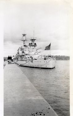 Battleship USS TEXAS Vintage snapshot Photo by photopicker