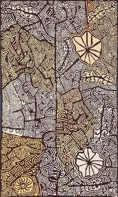 Acrylic on canvas, 152 x 91 cm. Papunya Tjupi Art Centre - Papunya - Central Australia.