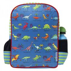 A back pack covered in cartoon dinosaurs - super cool gift for dino mad boys age 4.