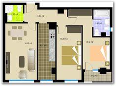 planos de dos habitaciones para estudiantes - Buscar con Google