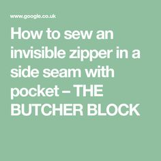 How to sew an invisi