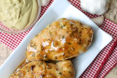 Garlic Maple Dijon Chicken. Sweet and tangy, this gluten free recipe fits the bill if you're looking to switch up your chicken game.