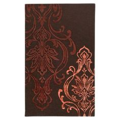I pinned this Victoria Rug in Chocolate from the Damask event at Joss and Main!