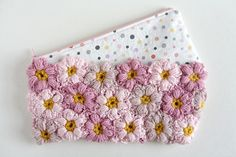 adorable flower power clutch by caught on a whim