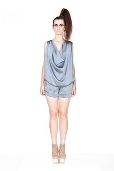 Shop Grey Light Jumpsuit by JOANNA HAWROT now on nelou.com. Plus 5500 more designs.