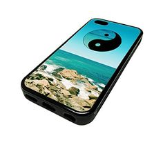 For Apple Iphone 5 or 5s Cute Phone Cases for Girls Yin Yang Beach Surf PEace Design Cover Skin Black Rubber Silicone Teen Gift Vintage Hipster Fashion Design Art Print Cell Phone Accessories MonoThings http://www.amazon.com/dp/B00KYFT7Y6/ref=cm_sw_r_pi_dp_Sk6Ntb02SG5H9SVG