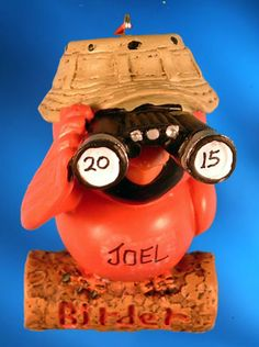 """Birder with Binoculars ornament. Buy it now at www.ornamentswithlove.com for $11.99 Can be found in the """"hobby"""" and """"miscellaneous"""" categories."""