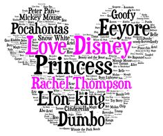 Princess Word Art Design By Word Art Wizard https://www.facebook ...