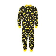DC Comics Batman Official Gift Boys Kids Pyjama Onesie Black (RRP... ($23) ❤ liked on Polyvore featuring batman and pijamas