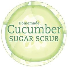 Cucumber Sugar Scrub Label