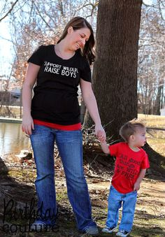 Support Wildlife Raise Boys  Shirt for Moms of by birthdaycouture, $25.00