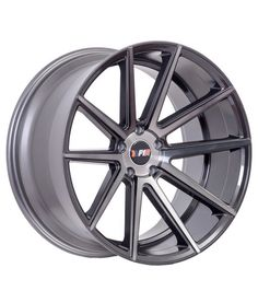 F1R F27 18x9.5 +38 5x100/5x114.3 Machined Gunmetal