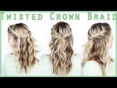 Twisted Crown Braid - YouTube