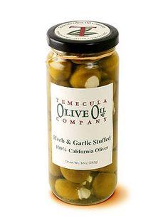 Herb & Garlic Stuffed Olives #temeculaoliveoilcompany #tooc