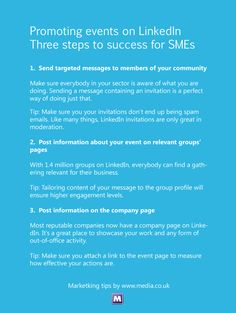 How to promote events in #LinkedIn by @MediaCo (UK)