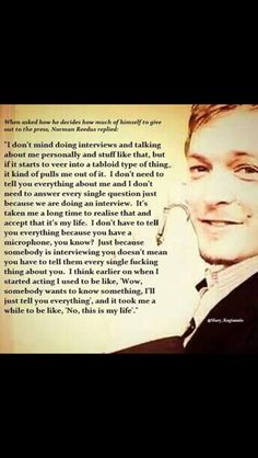 Norman Reedus on interviews