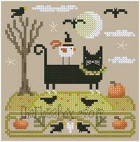 The Floss Box   The Black Cat of Halloween Cross Stitch