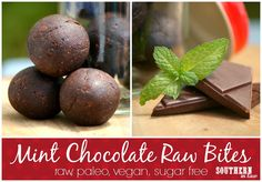 Raw Mint Chocolate Balls Recipe - Gluten Free, Healthy, Low Fat, Paleo, Clean Eating Friendly, Grain Free, Peanut Free, Egg Free, Vegan