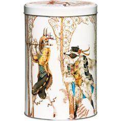 Klaus Haapaniemi for Iittala - Tanssi pattern tin canister Design Shop, Shops, Metal Box, Tin Boxes, Painted Doors, Scandinavian Home, Marimekko, Typography Prints, Glass Design