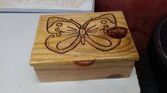 porta joia pirografia borboleta