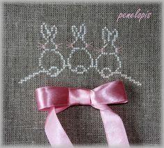 Penelopis' cross stitch freebies: Kroliczki / Bunny...