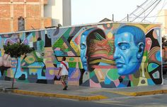 El Decertor recently finished working on this new mural for the Mirafau Street Art Festival which was held in the Miraflores district of Lim...
