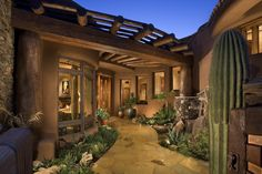 A true desert style #entrance at this house in Scottsdale, Arizona, United States. Priced at USD 7,349,000. View more #luxury homes on homeadverts.com