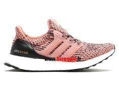 """Chaussures de Running Pas Cher Pour Femme Adidas Ultra Boost W """"Still Breeze"""" Rose/Noir/Blanc s80686"""