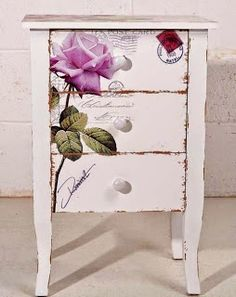 A fantastic idea to decorate a night table. in Keep Calm and DIY!: 75 of the Best Shabby Chic Home Decoration Ideas