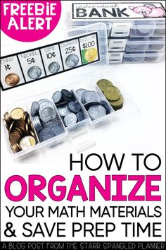 10 Math Center Organization Tips to Save You Hours of Prep Work! 10 ideas to help keep your classroom materials organized and save you TONS of prep time! From storage ideas to guided math center organization, these hacks and tips will have your manipulati Special Education Classroom, Math Classroom, Kindergarten Math, Teaching Math, Math Math, Multiplication Facts, Physical Education, Classroom Decor, Preschool