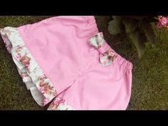 Shortinho Babadinho - YouTube Smocking Patterns, Baby Dress Patterns, Coat Patterns, Sewing Patterns, Toddler Girl Dresses, Girls Dresses, Short Niña, Baby Dress Design, Tatting Jewelry