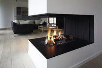 Chimenea de leña / moderna / de diseño original / hogar abierto