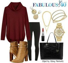 A long sweater is the number one thing to wear with leggings in cooler weather. | Fabulous After 40