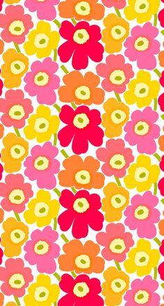 Marimekko Unikko iPhone Wallpaper