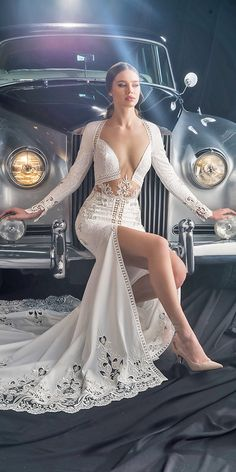 Unique Dany Mizrachi Fall 2018 Wedding Dresses, You can collect images you discovered organize them, add your own ideas to your collections and share with other people. Dresses To Wear To A Wedding, Dream Wedding Dresses, Bridal Dresses, Wedding Gowns, Bridesmaid Dresses, Backless Wedding, Wedding Rings, Unique Dresses, Sexy Dresses