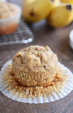 These whole grain peanut butter banana muffins (with honey) are soft and tender and absolutely delicious! Perfect for breakfast or snack! I'd say muffins are a main part of my love language. But then you'd question Soft Chocolate Chip Cookies, Chocolate Chips, Hash Tag, Healthy Muffins, Sweet Bread, Healthy Baking, Baked Goods, Breakfast Recipes, Breakfast Ideas