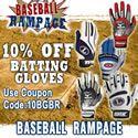 10% off Baseball Batting Gloves