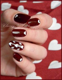 CHERRY NAIL ART valentine #nail #nails #nailart