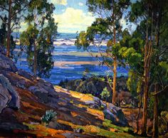 William Wendt  (1865-1946) along with his wife, Julia Bracken Wendt, was a member of the California Art Club and president for six years.