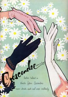 A stylish trio of vintage gloves for spring and summer. #vintage #1950s #gloves #fashion #ad #spring #summer
