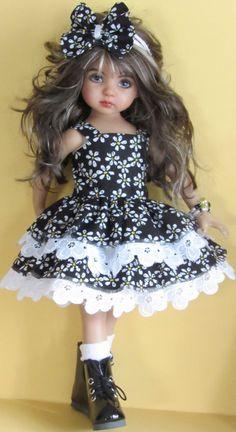 "Sweater,sundress,hat set made for effner little darling,effner bjd 13"" dolls"