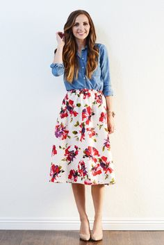 Rock A Floral and Denim Combo For Valentine's Day!