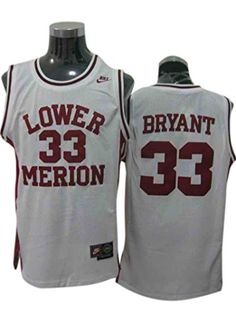 1826c0392 Lakers 33 Kobe Bryant Lower Merion Red Jerseys Size-L - http
