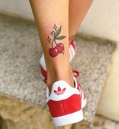 Cherries🍒 I love tattooing fruit! Send me your ideas and let's do some co… Cherries🍒 I love tattooing fruit! Send me your ideas and let's do some cool tattoos 🙌🏼 Dope Tattoos, Pin Up Tattoos, Badass Tattoos, Unique Tattoos, Beautiful Tattoos, Body Art Tattoos, Small Tattoos, Sleeve Tattoos, Tatoos