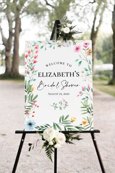 "Custom Wildflower Bridal Shower Print | Shower Welcome Sign | Garden Party | Printable Shower Decor | 16""x20"", 20""x30"" or 24""x36"" Print Summer Bridal Showers, Garden Shower, Photo Center, Garden Signs, Bridal Shower Decorations, Frame It, Bridal Shower Invitations, Party Printables, Welcome"