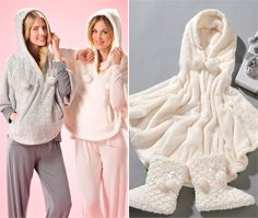 Ultra-soft Sleepwear Hooded Poncho  $49.99  (400488, not on order)