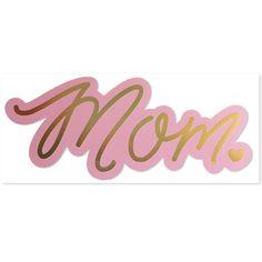 Mom, Hologram Die Cut Card | The Social Type